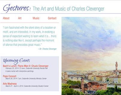 Gestures: Spec Site for Artist Chuck Clevenger