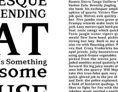 The Black Cat Typeface