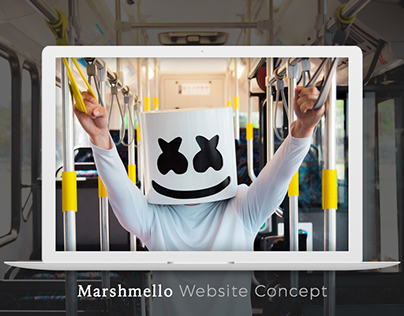 Marshmello Website Design Concept
