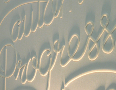 Typographic Mural: Change is automatic