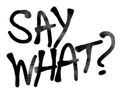 SAY WHAT? sign language campaign