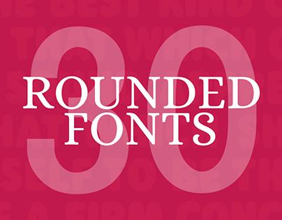 30+ Amazing Rounded Fonts