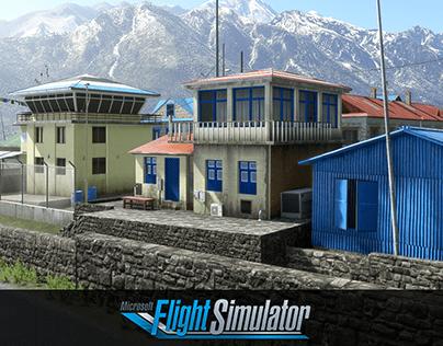 Lukla airport Microsoft Flight Simulator