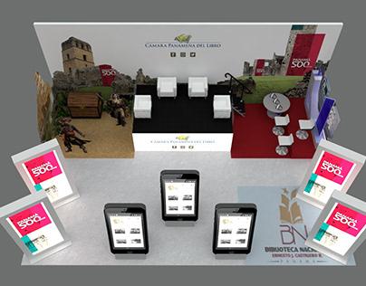 STAND DESIGN - CÁMARA PANAMEÑA DEL LIBRO - Book Fair
