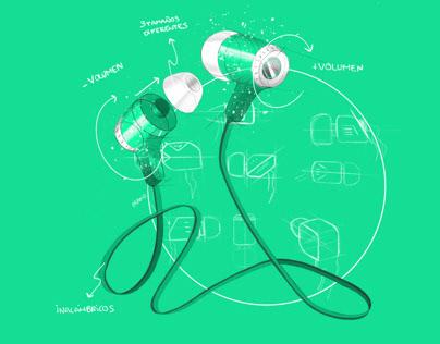Digital Sketches 2 - Earphones