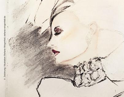 Fashion Sketch / Daphne Guinness