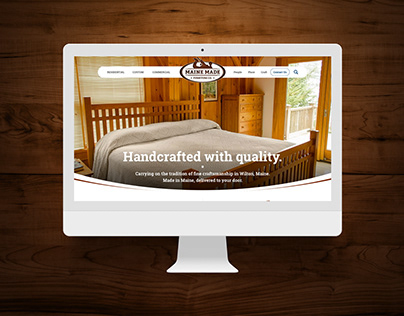 Maine Made Furniture Website