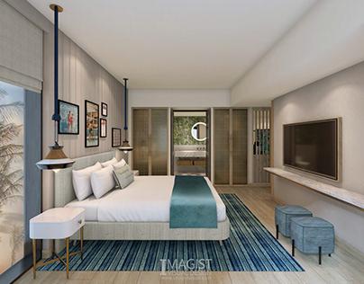 Hotel suite rendering