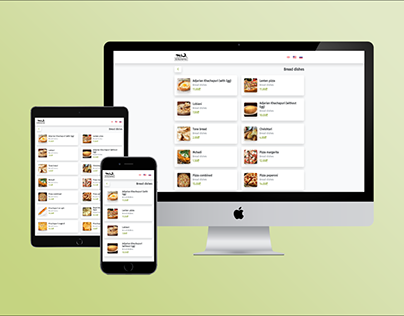 Restaurant Menu Web Design