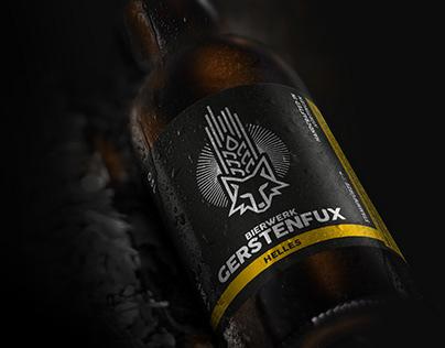 Etiketten Bierwerk Gerstenfux