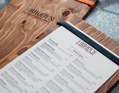 Menu redesign-Brody's Mexican Restaurant
