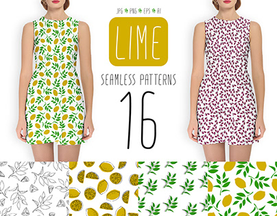 Lime- Seamless Patterns