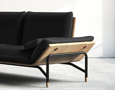 ramp sofa
