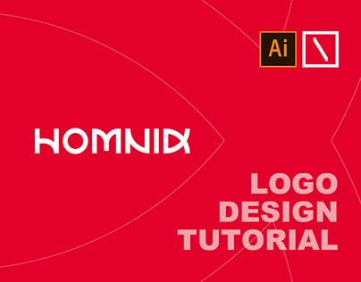 HOMNID Text Logo Design Tutorial | Adobe Illustrator