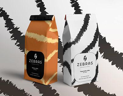 Zebras coffee brand identity