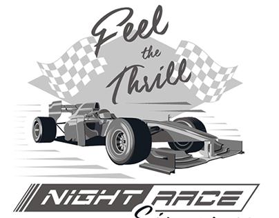 F1 Night Race Poster