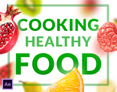 Cooking Helthy Food - After Effects Video Template