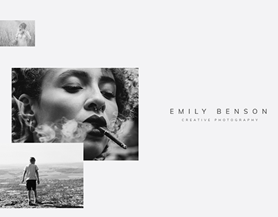 Photography One page Black&White Element WordPress Them