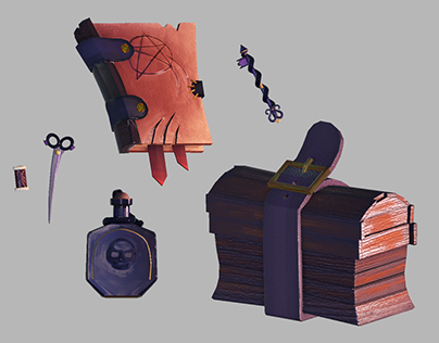 STYLIED 3D PROPS - 3D Game Prop Design