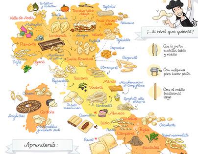 El mapa de la pasta fresca