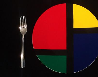 Color Block Dinner Plate