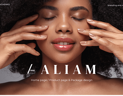Aliam Beauty E-commerce Store Design & Branding