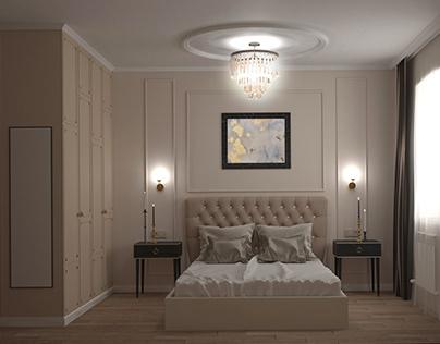 Спальня 18 кв.м. из проекта частного дома