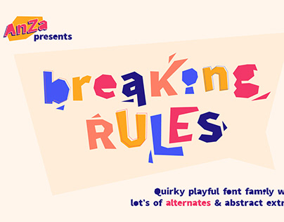 Breaking Rules - Typeface