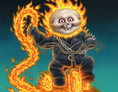 Superhero Garbage Pail Kids 2014 Series 2 Illustrations