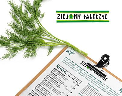 Restaurant menu - Zielony Talerzyk