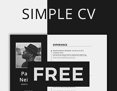 SIMPLE RESUME TEMPLATE - FREE