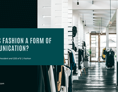 Doaa Dashoush   Fashion as Communication