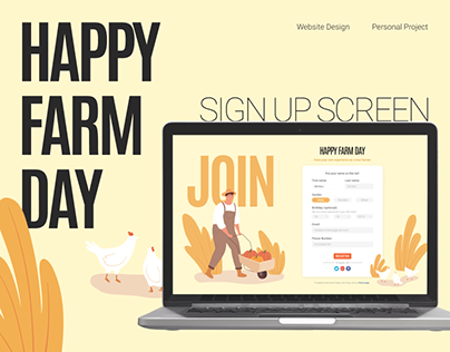 Happy Farm Day - Sign Up