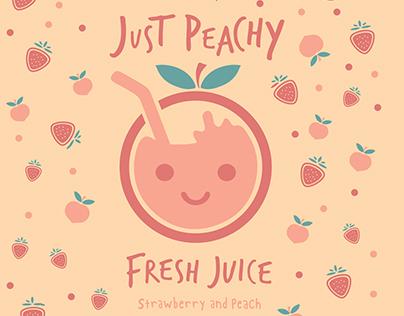 Just Peachy Fresh Juice Branding