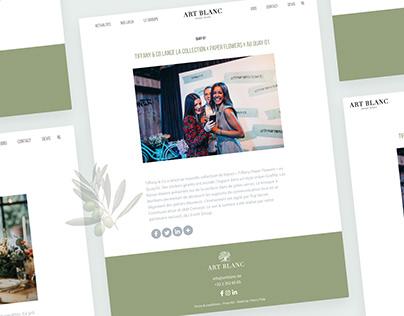Art Blanc - Website