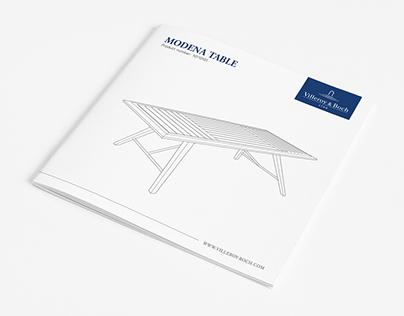 Villeroy & Boch - Instruction Booklet