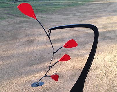 """Stabile"" vertical Iron Sculture, tribute to Calder"