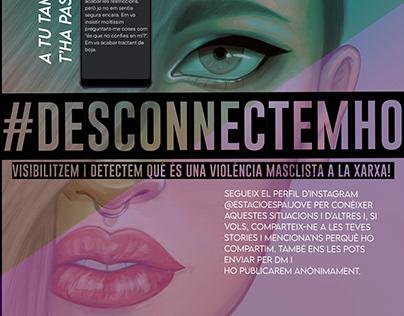 #Desconnectemho poster for Girona Council