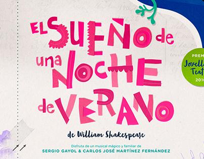 """Poster """"El Sueño de una Noche de Verano"""""""