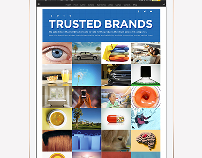 Reader's Digest Trusted Brands Microsite