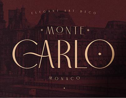 Carlo Monaco - Elegant Art Deco Typeface