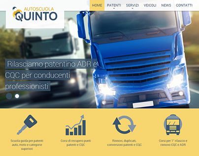 Autoscuola Quinto - website and logo