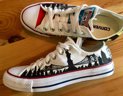 Converse All Star Custom Shoes - NYC