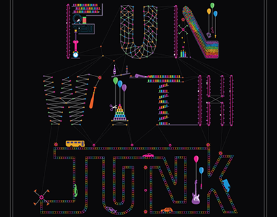 """Fun With Junk"" PowerSlut Album Art"