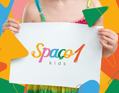 Spaço 1 kids - Logo Design