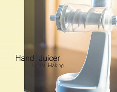 Model Making|Hand juicer