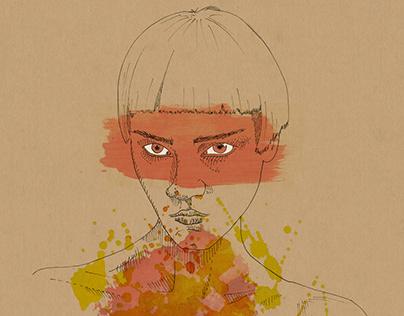 Mood Illustration_red//blue//yellow