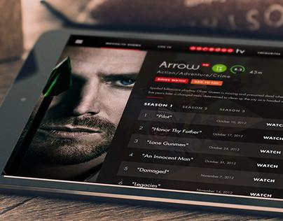 Ooredoo TV App Design