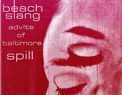 Flyer: Beach Slang - 8/5/15 - Baltimore, MD