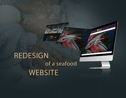 Redesign of a seafood website